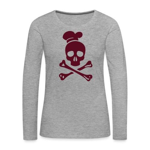 cannibal cook vector - Frauen Premium Langarmshirt