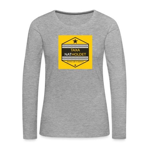 Taxa Natholdet Logo - Dame premium T-shirt med lange ærmer