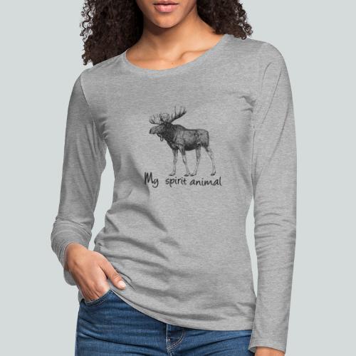 L'élan est mon animal totem - T-shirt manches longues Premium Femme