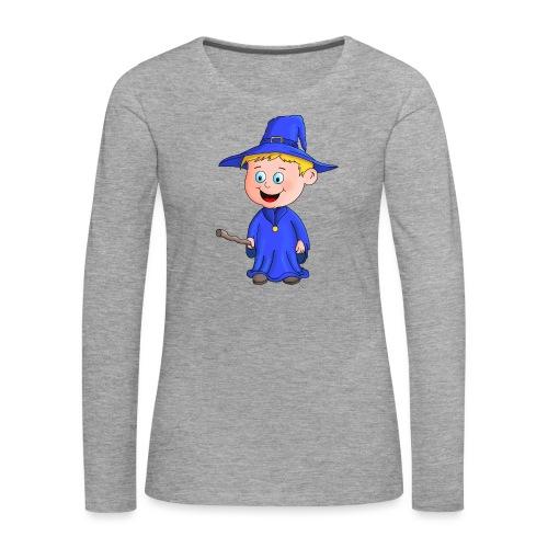 Kleiner Zauberer liebt die Zauberei - Frauen Premium Langarmshirt