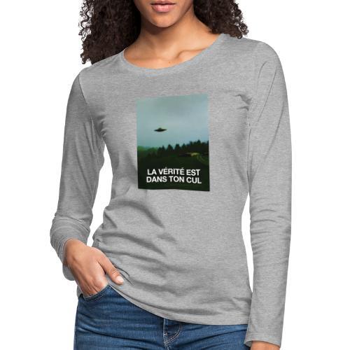 LA VÉRITÉ - T-shirt manches longues Premium Femme