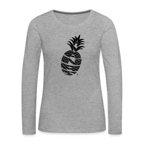 ananas calligramme - T-shirt manches longues Premium Femme