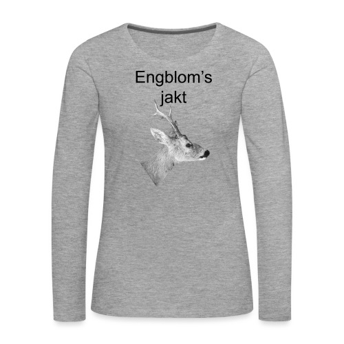 Officiell logo by Engbloms jakt - Långärmad premium-T-shirt dam