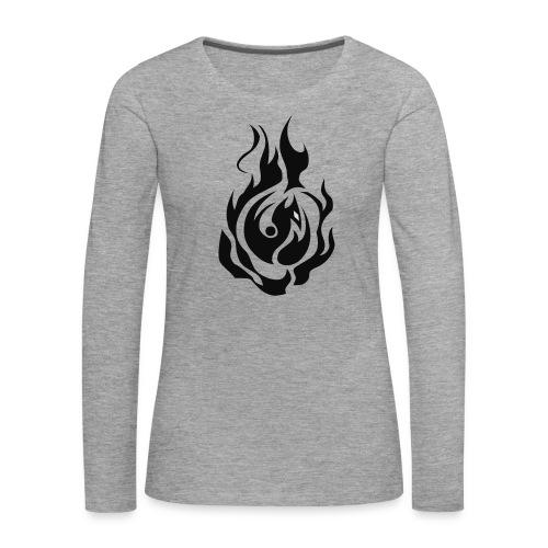 feu - T-shirt manches longues Premium Femme