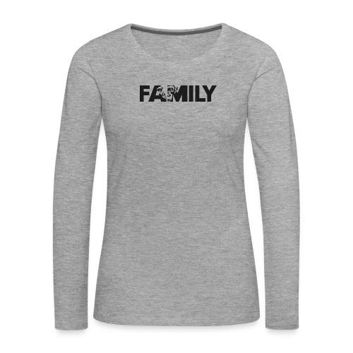 Family Logo Sticker SW - Frauen Premium Langarmshirt
