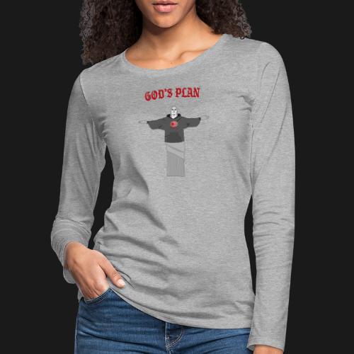 God's Plan - T-shirt manches longues Premium Femme