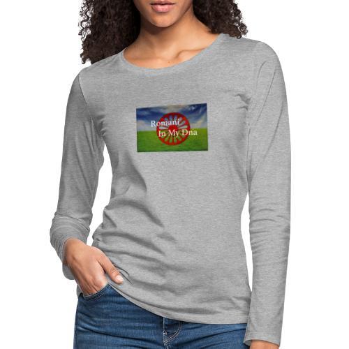 flagromaniinmydna - Långärmad premium-T-shirt dam