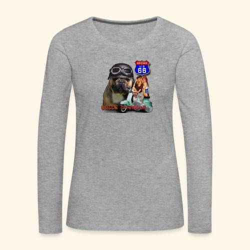 Bouledogue pinup - T-shirt manches longues Premium Femme