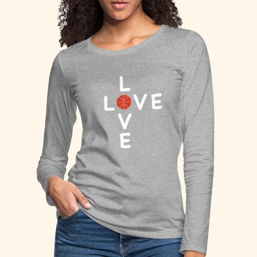 LOVE Cross basketball red 001 - Frauen Premium Langarmshirt