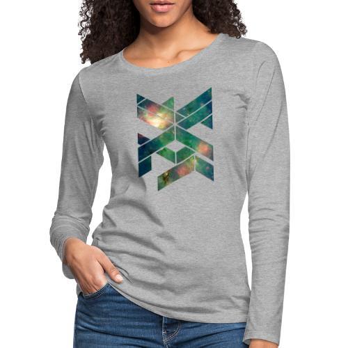 Galaxie Geometische Form - Frauen Premium Langarmshirt