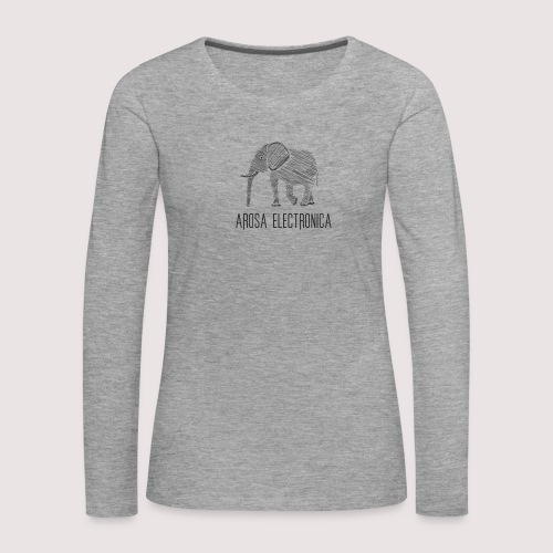 Elefant Schwarz - Frauen Premium Langarmshirt