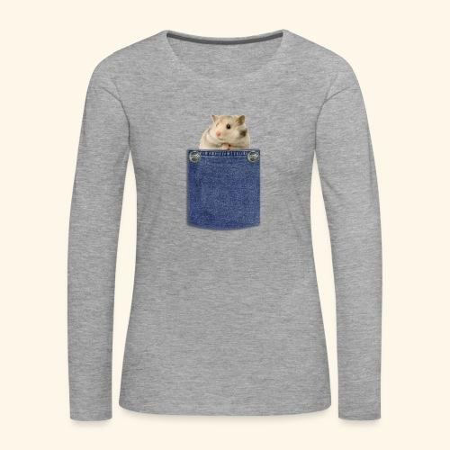 hamster in the poket - Maglietta Premium a manica lunga da donna