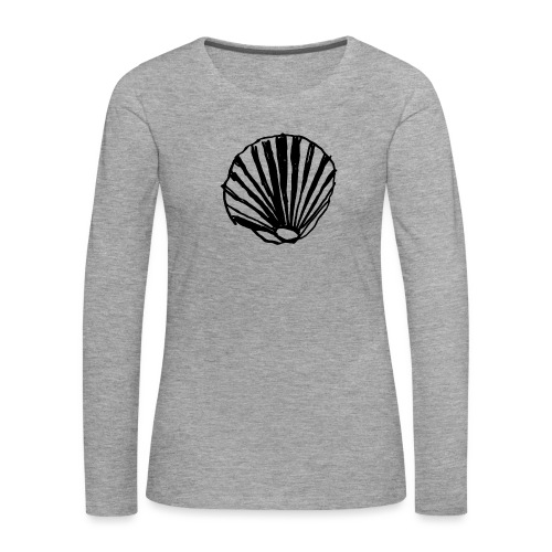 Concha - Camiseta de manga larga premium mujer
