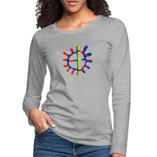 Samisk sol - Premium langermet T-skjorte for kvinner