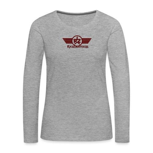 Logo mit Flügel rot ungestempelt gif - Frauen Premium Langarmshirt