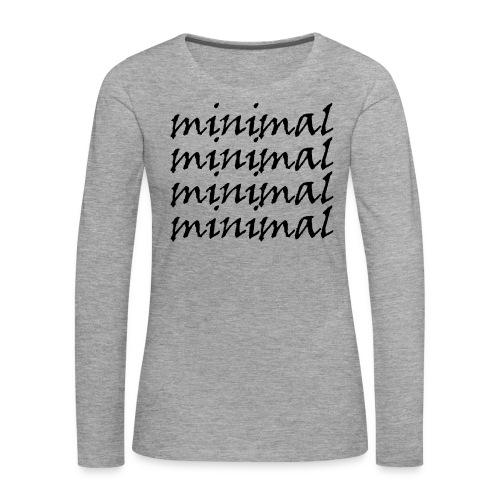 Minimal Design - Frauen Premium Langarmshirt