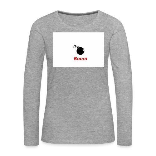 Bomba - Koszulka damska Premium z długim rękawem