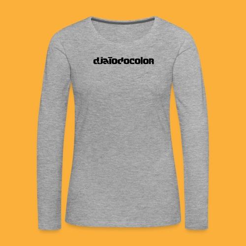 DJATODOCOLOR LOGO NEGRO - Camiseta de manga larga premium mujer