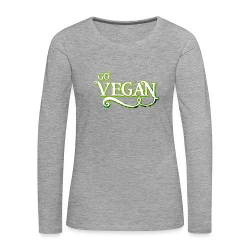 GO VEGAN - Women's Premium Longsleeve Shirt