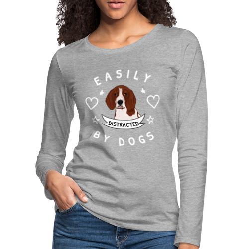 easily distracted - Naisten premium pitkähihainen t-paita