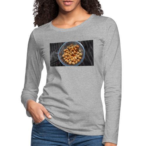 Cacahuate - Camiseta de manga larga premium mujer