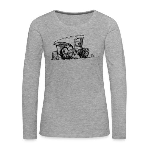 Futuristic design tractor - Women's Premium Longsleeve Shirt