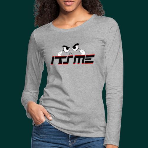 Faccia arrabbiata - Maglietta Premium a manica lunga da donna