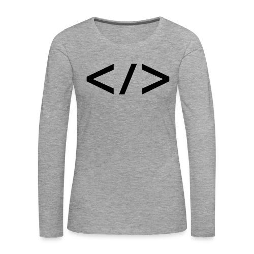 Webdev - Frauen Premium Langarmshirt