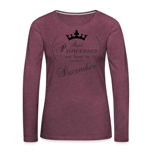 Real Princesses black December - Frauen Premium Langarmshirt