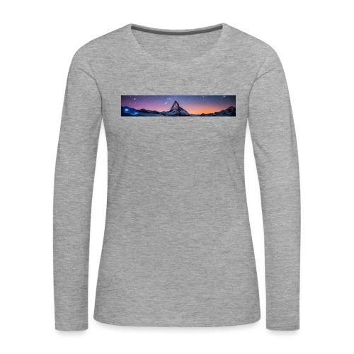 Mountain sky - Frauen Premium Langarmshirt