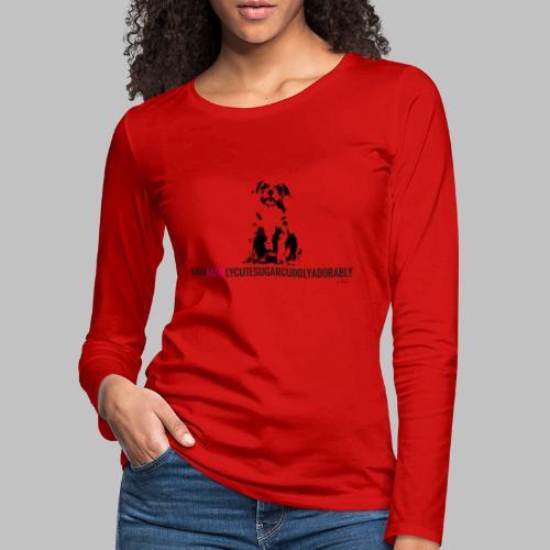 FRANZÖSISCHE BULLDOGE - WELPEN - LOVE - Frauen Premium Langarmshirt