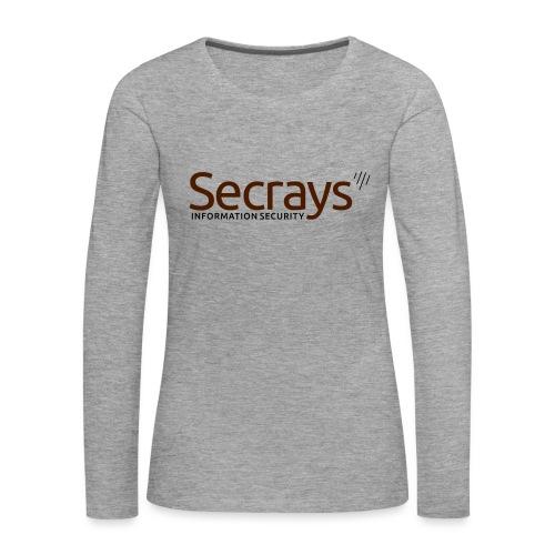 Secrays vektori logo - Naisten premium pitkähihainen t-paita