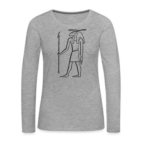 Ancien Dieu Egyptien - T-shirt manches longues Premium Femme