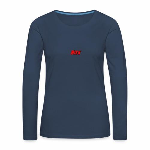 Niek Red - Vrouwen Premium shirt met lange mouwen