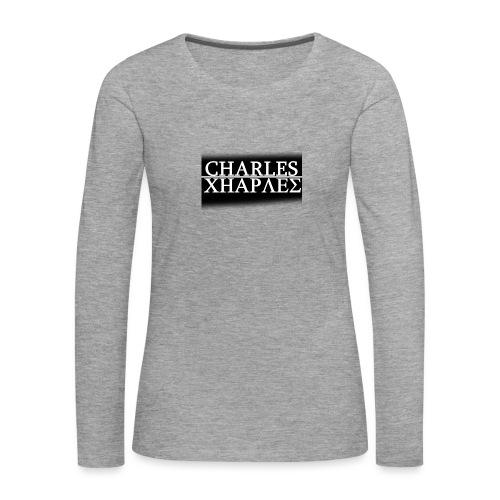 CHARLES CHARLES BLACK AND WHITE - Women's Premium Longsleeve Shirt