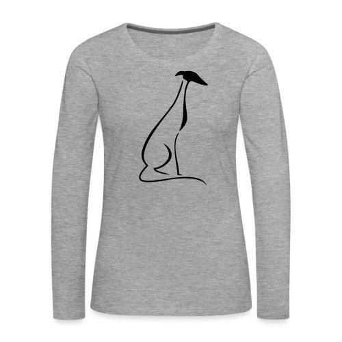 Sitzender Windhund - Frauen Premium Langarmshirt