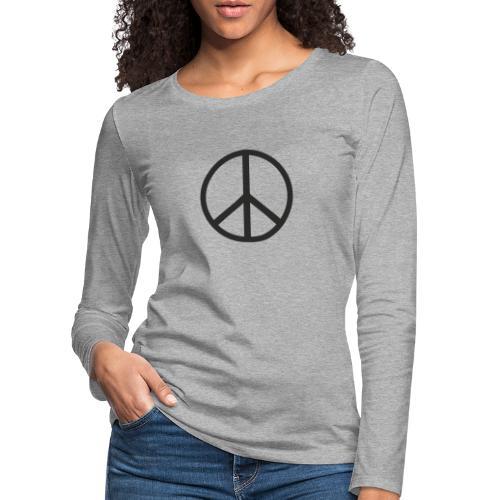 Símbolo de la paz negro - Camiseta de manga larga premium mujer