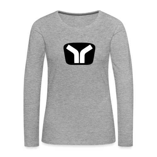 Yugo Logo Black-White Design - Women's Premium Longsleeve Shirt
