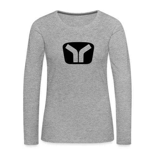 Yugo Logo Black-Transparent Design - Women's Premium Longsleeve Shirt