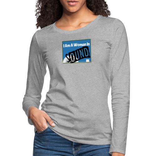 woman in sound - blue - Women's Premium Longsleeve Shirt