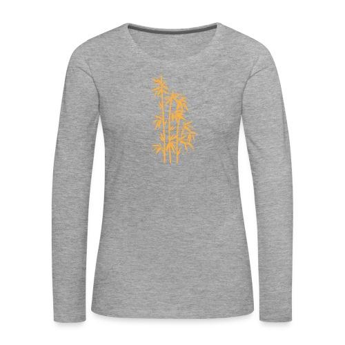 Giallo Dafne 01 - Maglietta Premium a manica lunga da donna