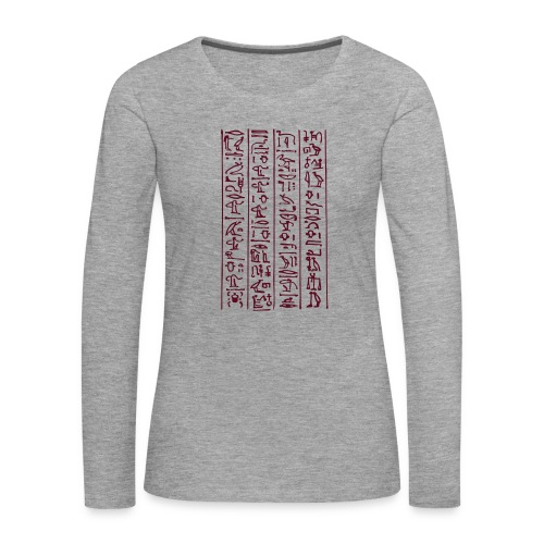 Hieroglyphen - Frauen Premium Langarmshirt