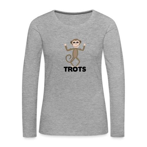 apetrots aapje wat trots is - Vrouwen Premium shirt met lange mouwen