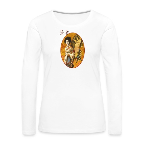 Vintage Japanese Geisha Oriental Design - Women's Premium Longsleeve Shirt
