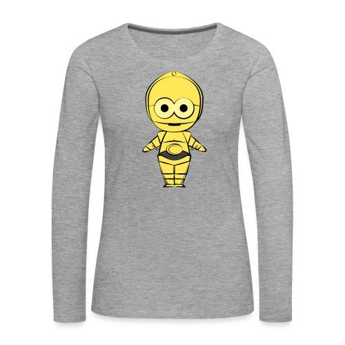C-3PO - T-shirt manches longues Premium Femme