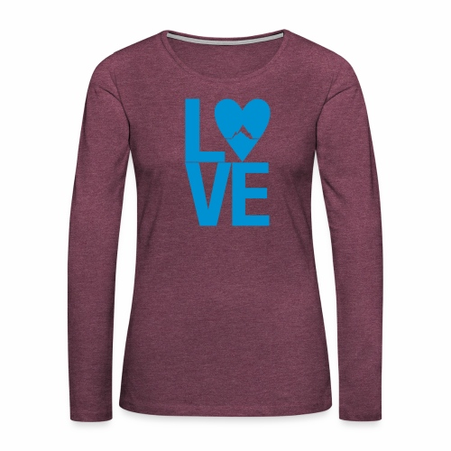 Mountain Love - Frauen Premium Langarmshirt