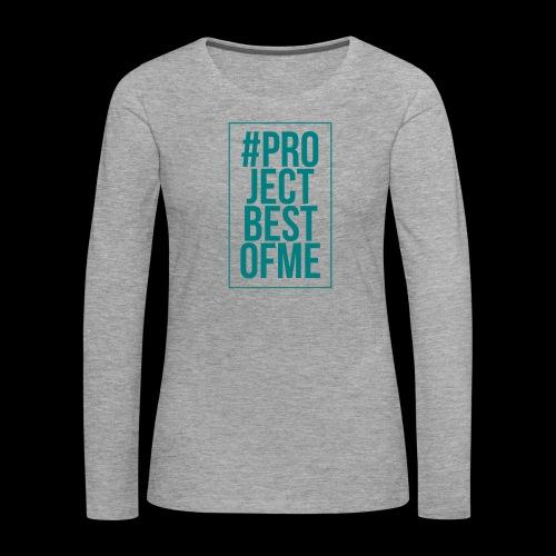hashtag - Långärmad premium-T-shirt dam