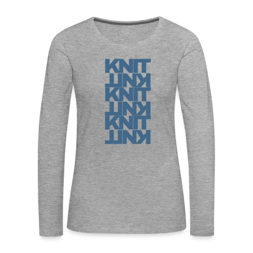 Garter Stitch, dark - Women's Premium Longsleeve Shirt