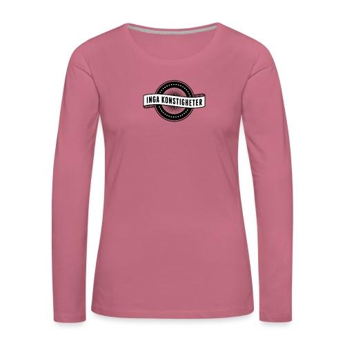 Inga Konstigheters klassiska logga (ljus) - Långärmad premium-T-shirt dam