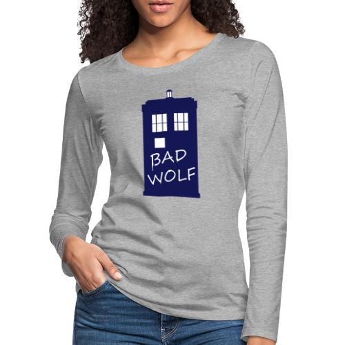Bad Wolf Tardis - T-shirt manches longues Premium Femme